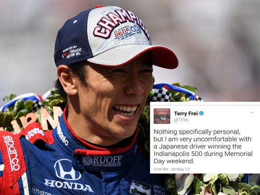 Journalist Fired After Tweet Expressing Discomfort with Japanese Winning Indy 500 on MemorialDay